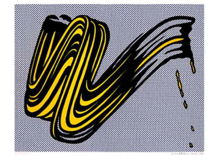 Roy Lichtenstein Brush Stroke 1965