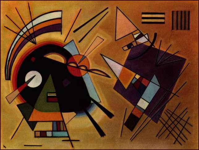 Wassily Kandinsky, Black and Violet,